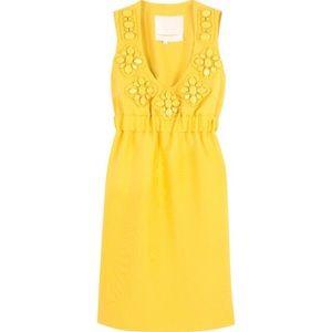 Karta Brand Yellow Embellished New Shift Dress 💛